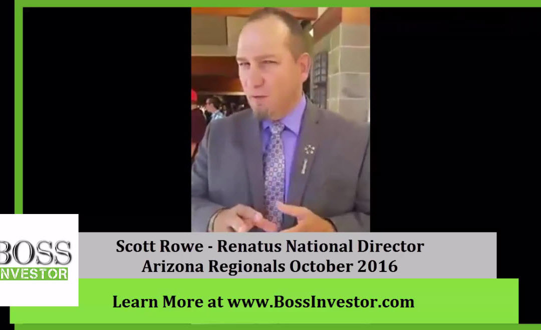 Renatus Update From National Director Scott Rowe